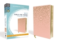 Niv, Bible for Teens, Thinline Edition, Leathersoft, Pink, Red Letter Edition, Comfort Print Cover Image
