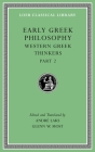 Early Greek Philosophy, Volume V: Western Greek Thinkers, Part 2 (Loeb Classical Library #528) Cover Image