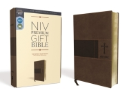 Niv, Premium Gift Bible, Leathersoft, Brown, Red Letter Edition, Comfort Print Cover Image