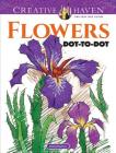 Creative Haven Flowers Dot-To-Dot Coloring Book (Creative Haven Coloring Books) Cover Image