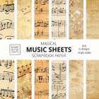 Music Sheets Scrapbook Paper: 8x8 Designer Music Patterned Paper for Decorative Art, DIY Projects, Homemade Crafts, Cool Art Ideas Cover Image