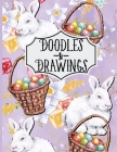 Doodles & Drawings: Easter Bunnies and Baskets Sketchbook For kids Drawing Book Purple 110 Pages Cover Image