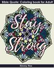 Stay Strong: Bible Quote: Coloring book for Adult+mandala design Cover Image
