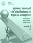 Specifications, Tolerances, and Other Technical Requirements for Weighing and Measuring Devices: 2018 Nist Handbook 44 Cover Image