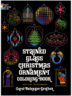 Stained Glass Christmas Ornament Coloring Book (Holiday Stained Glass Coloring Book) Cover Image