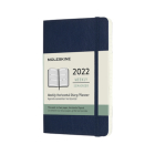 Moleskine 2022  Weekly Horizontal Planner, 12M, Pocket, Sapphire Blue, Soft Cover (3.5 x 5.5) Cover Image