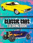 Classic Cars Coloring Book Cover Image