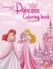 Princess Coloring Book For Girls: Cindrella, Ourora, Belle, Repunzel, Elsa, Anna, Merida, Little Mermaid, Pocahontas My Favorite Princesses In One Boo Cover Image