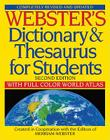 Webster's Dictionary & Thesaurus for Students: With Full Color World Atlas Cover Image