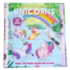 Magical Water Painting: Unicorns: (Art Activity Book, Books for Family Travel, Kids' Coloring Books, Magic Color and Fade) (iSeek) Cover Image