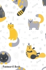 Password Book: Include Alphabetical Index With Cute Scandinavian Style Cats Meow Cover Image