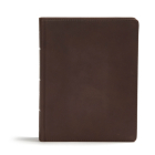 CSB Study Bible, Brown Genuine Leather: Red Letter, Study Notes and Commentary, Illustrations, Ribbon Marker, Sewn Binding, Easy-to-Read Bible Serif Type Cover Image