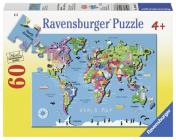 World Map 60 PC Puzzle Cover Image