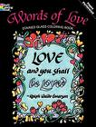 Words of Love Stained Glass Coloring Book (Dover Coloring Books) Cover Image