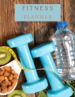 Fitness Planner: A Daily Food and Fitness Journal 8.5x11 120 pages Cover Image
