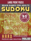 Hard Sudoku Puzzles and Solution: sudoku extremely hard - Full Page HARD Sudoku Maths Book to Challenge Your Brain - Sudoku in Very Large Print for Ad Cover Image