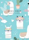2021-2025 Monthly Planner Hardcover: Large Five Year Planner (Llama and Cactus) Cover Image
