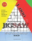 1,000 + sudoku jigsaw 9x9: Logic puzzles easy - medium levels Cover Image