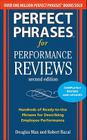 Perfect Phrases for Performance Reviews Cover Image
