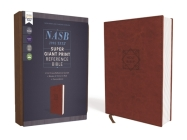 Nasb, Super Giant Print Reference Bible, Leathersoft, Brown, Red Letter Edition, 1995 Text, Comfort Print Cover Image