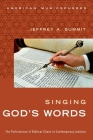 Singing God's Words: The Performance of Biblical Chant in Contemporary Judaism Cover Image