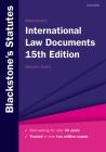 Blackstone's International Law Documents Cover Image