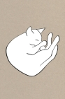 Notes: A Blank Lined Journal with Snoozing Cat Cover Art Cover Image