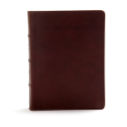 CSB Study Bible, Brown Genuine Leather, Indexed: Red Letter, Study Notes and Commentary, Illustrations, Ribbon Marker, Sewn Binding, Easy-to-Read Bible Serif Type Cover Image