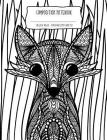 Composition Notebook: Cute Fox Doodle Art Coloring Book Style Cover to Color in Cover Image