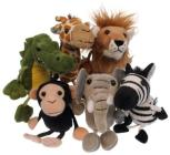 African Animals Puppets 6pk Cover Image