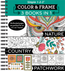 Color & Frame - 3 Books in 1 - Nature, Country, Patchwork (Adult Coloring Book) Cover Image