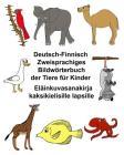 Deutsch-Finnisch Zweisprachiges Bildwörterbuch Der Tiere Für Kinder Eläinkuvasanakirja Kaksikielisille Lapsille Cover Image
