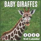 Baby Giraffe 2021 Wall Calendars: Monthly Square Wall Calendar 18 Months Cover Image