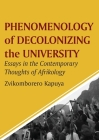 Phenomenology of Decolonizing the University: Essays in the Contemporary Thoughts of Afrikology Cover Image