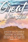 Greatly to Be Praised Bulletin (Pkg 100) General Worship Cover Image