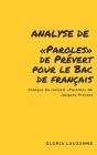Analyse de Paroles de Prévert pour le Bac de français: Analyse du recueil Paroles de Jacques Prévert Cover Image