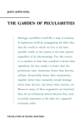 The Garden of Peculiarities Cover Image