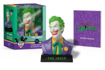 The Joker Talking Bust and Illustrated Book Cover Image