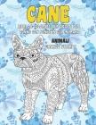 Libri da colorare per adulti per donne con penne in gel in mano - Grande stampa - Animali - Cane Cover Image