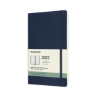 Moleskine 2022  Weekly Horizontal Planner, 12M, Large, Sapphire Blue, Soft Cover (3.5 x 5.5) Cover Image