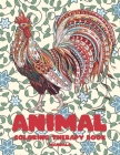 Mandala Coloring Therapy Book - Animal Cover Image