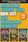 Redstone Junior High Box Set for Reluctant Readers: High-Interest, Illustrated Graphic Novels for Minecrafters Cover Image