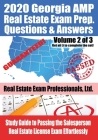 2020 Georgia AMP Real Estate Exam Prep Questions and Answers: Study Guide to Passing the Salesperson Real Estate License Exam Effortlessly [Volume 2 o Cover Image