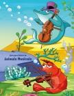 Livro para Colorir de Animais Musicais Cover Image