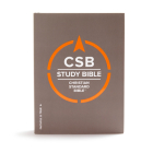 CSB Study Bible, Hardcover: Red Letter, Study Notes and Commentary, Illustrations, Ribbon Marker, Sewn Binding, Easy-to-Read Bible Serif Type Cover Image