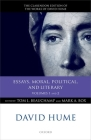 David Hume: Essays, Moral, Political, and Literary: Volumes 1 and 2 Cover Image