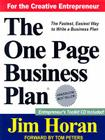 The One Page Business Plan: Start with a Vision, Build a Company! [With Online Information] Cover Image