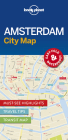 Lonely Planet Amsterdam City Map Cover Image