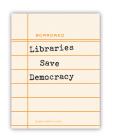Lib Save Democracy (Sticker) Cover Image