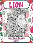 Adult Coloring Book Retro Style - Animal - Lion Cover Image